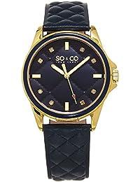 A pesar de que las mujeres de Nueva York SoHo es CO reloj de pulsera para mujer de cuarzo con esfera azul y el azul de la correa de cuero 5201,3