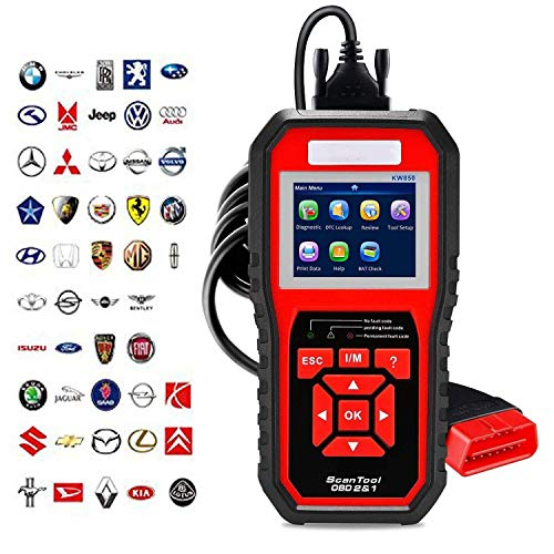 OBDII Automatischer Diagnose Scanner 12V Benzinfahrzeug General Motor System Fehler Code-Reader Für OBD II/EOBD Protokoll Fahrzeuge Schwarz