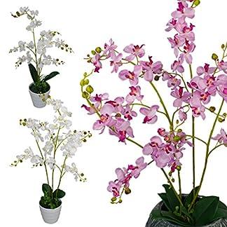 Leaf Plantas Artificiales de orquídea de Lujo realistas con diseño de Hojas