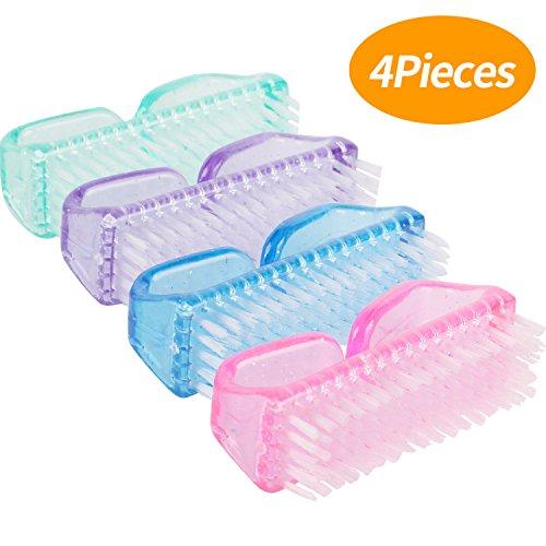 Senkary 4 Stück Nagelbürste Handwaschbürste Handbürste Kunststoff Waschbürste Reinigungsbürste