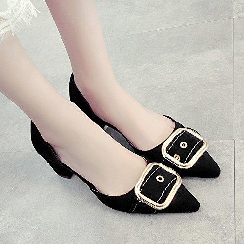 RUGAI-UE Donna Sandali estivi pompe scarpe tempo libero scarpe sexy Black