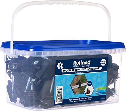 Galleria fotografica Woodstream 30-369R Rutland recinto isolante con vite per pali di legno per 12-40 mm e 6 mm fune elettrico nastro, 100 pezzi
