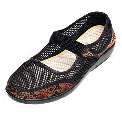 Schuhe Damen Flache Stiefel Mokassins Atmungsaktives Mary Jane Halbschuhe DOLDOA