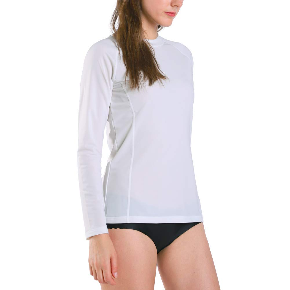 Ogeenier Mujer Deportiva Camiseta de Manga Larga con protecci/ón Solar contra UV UPF 50+