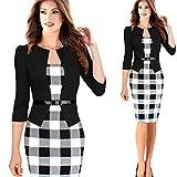 YLSZ-La jupe robe à manches longues,L Black 7-sleeve
