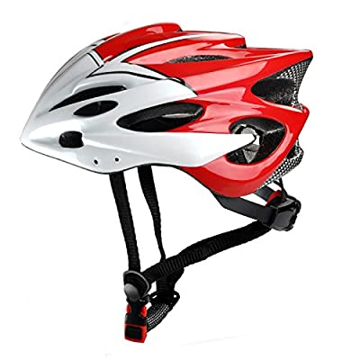 Road bike cycling helmet adult men women bicycle safety helmet in red Size 52-63cm from Guanshi