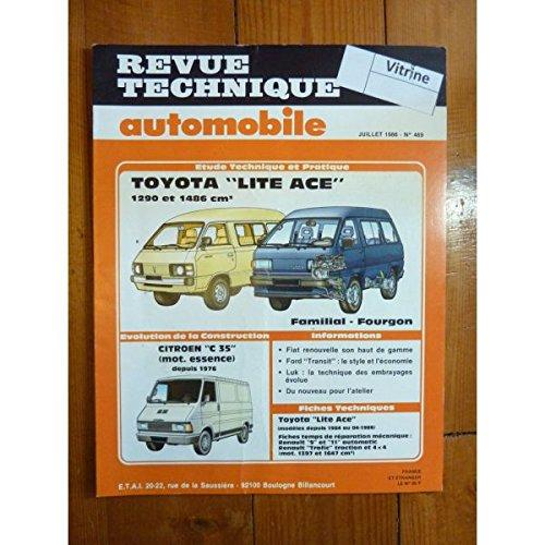 RTA0469 - REVUE TECHNIQUE AUTOMOBILE TOYOTA LITE-ACE 1290 et 1486 cm3 Familial et Fourgon