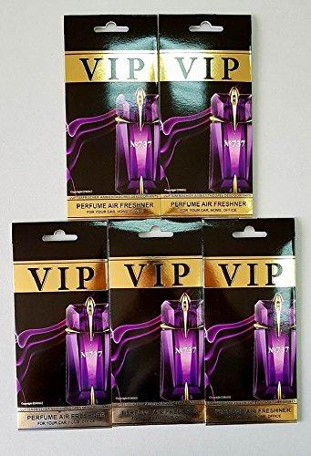 Preisvergleich Produktbild 5 x caribi VIP Auto, Zuhause oder Büro Lufterfrischer mit Parfume Duft von 737 - Thierry Mugler Alien