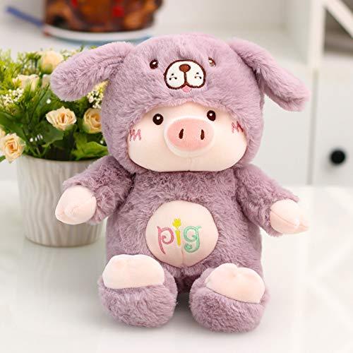 Carino/Lucky Pig Doll/Peluche/Gatto/Cucciolo/Giocattolo per Bambini/Ragdoll/Regalo Annuale/Regalo di Compleanno, Viola, 55 Cm