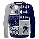 Klew NFL Pullover Busy Block, Herren, SWTNFUGYBBLKDCL, Dallas Cowboys, Large