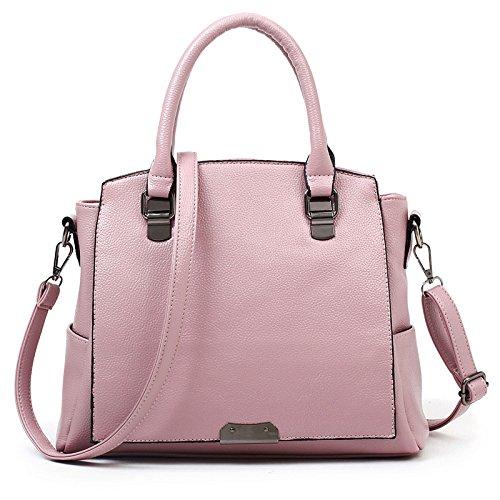 Mefly Moda Borse Unica Borsa A Tracolla Rosa Pink