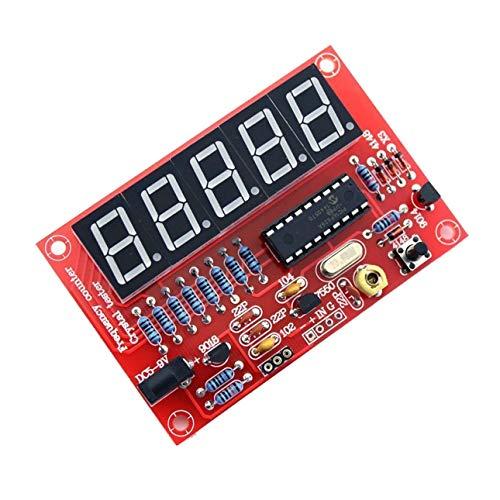 Ballylelly-1Hz-50MHz Digital LED Kristall Oszillator Tester Frequenzzähler Meter RF Elektronische DIY Kits Werkzeuge PCB Board Modul von Digital-batterie-tester-kit