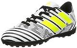 adidas Unisex-Kinder Nemeziz 17.4 TF Fußballschuhe, Weiß (Footwear White/Solar Yellow/Core Black), 36 EU