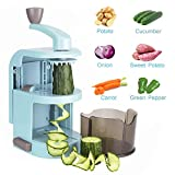 Vegetable Spiralizer, Alegender 4-Blade Vertical Vegetable Slicer Anti-Slip Sucker Vegetable Cutter for Zucchini