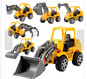 Simplelife Enfants Jouet Mini ingénierie véhicule de Voiture Camion Pelleteuse Modèle Jouets garçon Cadeaux Jaune 11x 10x 4.5cm Simplelife