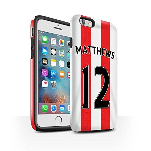 Offiziell Sunderland AFC Hülle / Glanz Harten Stoßfest Case für Apple iPhone 6+/Plus 5.5 / Pack 24pcs Muster / SAFC Trikot Home 15/16 Kollektion Matthews
