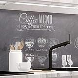 StickerProfis Küchenrückwand selbstklebend Premium Bistro MENU 1.5mm, Versteift, alle Untergründe, Hartschicht, 60 x 280cm