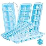Eiswürfelform mit Deckel Silikon, Jelife 5 Stück Eiswürfelschalen, Eiswuerfelbehaelter BPA Frei, Ice Cube Tray 12-Fach, LFGB Zertifiziert