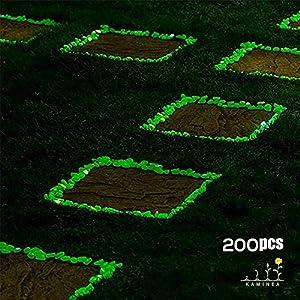 Kaminea 200 Pietre Verdi Fluorescenti Pietre Luminose per la Decorazione di Interni ed Esterni | Accessori per acquari, Giardini, vasi, Piante e Piscine | Fino a 6 Ore di Luce intensa.