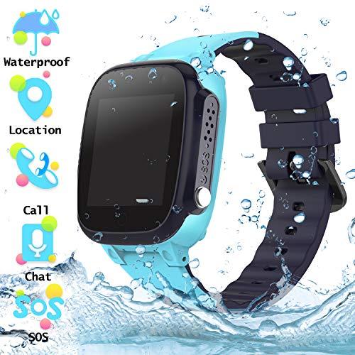 Reloj Inteligente para Niños a Prueba de Agua IP67, Teléfono Smartwatch LBS...