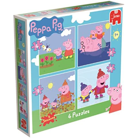 Jumbo Games Peppa Pig 4 Puzzles in a Box 4/6/9/16