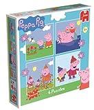 Jumbo Games Peppa Pig - Set de 4 puzzles (4, 6, 9 y 16 piezas)