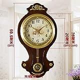 Fengfeng Relojes de Pared, péndulo Relojes de Pared Antiguo Antiguo Retro Silencio Silencioso de Gama