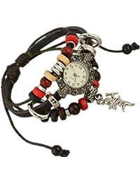 fc330828a8f1 Wei zhe - Reloj de Pulsera para Hombre y Mujer (Piel sintética)