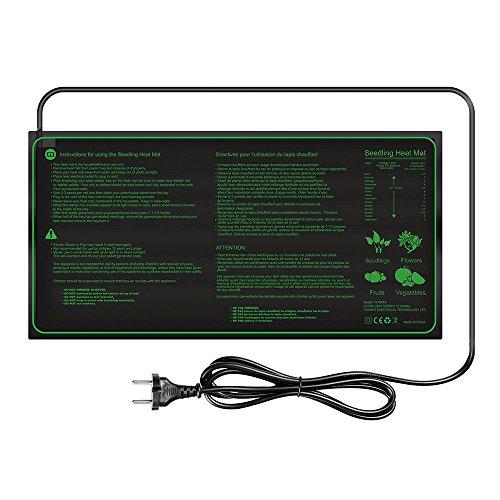Lerway Manta Termica para Plantas de Semillero Calentadora de Cultivo, Calefactor Incubadoras para Animales y Reptiles 25x50cm,17.5W
