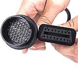 Fortag 16 Pin auf 38 Pin OBD-II Verlängerungskabel Stecker auf Buchse Diagnose Diagnostic- Extender OBD Diagnoseadapter Interface für Mercedes Benz