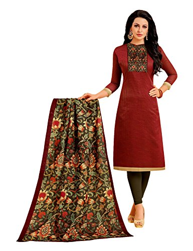 Oomph! Salwar Suits for Women Unstitched - Cotton Dress Material with Kalamkari...