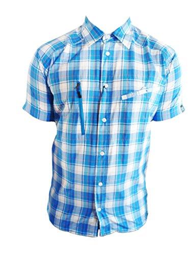 Haglöfs Herren Karohemd Saba Short Sleeve Shirt, stormblue/sharon, M, 601951 (Bekleidung Saba)
