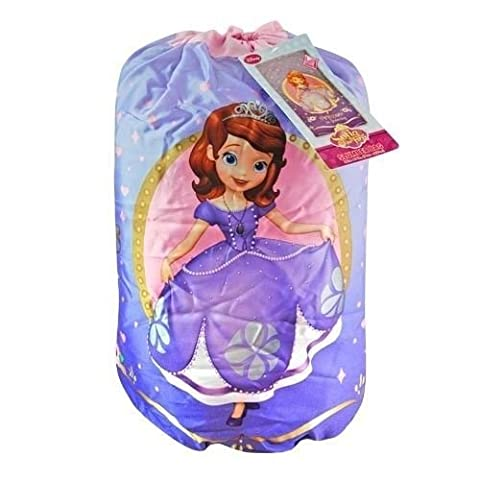 Disney Sofia the First Indoor Slumber Sleeping Bag For Kids w/Carry Drawstring by Disney