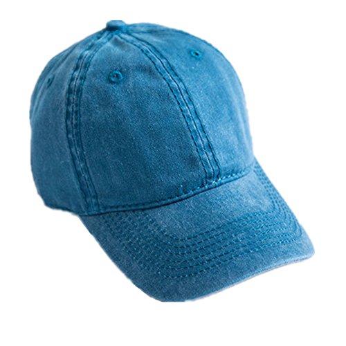Toruiwa Kappe Damen Baseball Kappe Verstellbar Mütze UV-Schutz Kappen für Herren und Damen Sommer (Blau)