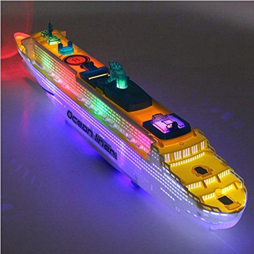 Ozeandampfer Schiff Boot Elektrisches Spielzeug Flash LED Leuchten Sounds Kid Gift