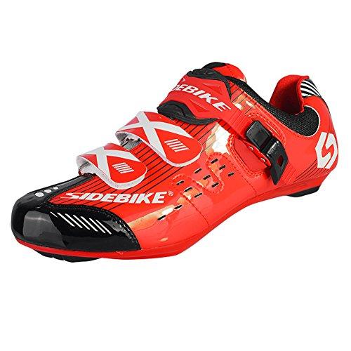 Zapatillas De Ciclismo Transpirables Para Hombre Fastar Road Race Zapatillas De Ciclismo De Montaña Para Ciclismo De Montaña (ue 41-45) Rojo
