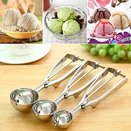 Idea Höhe: 5 cm, 4 cm, 5 cm, 6 cm, Küchencreme, Kartoffelschaufel, Edelstahl-Löffel, Federgriff, Küchenzubehör