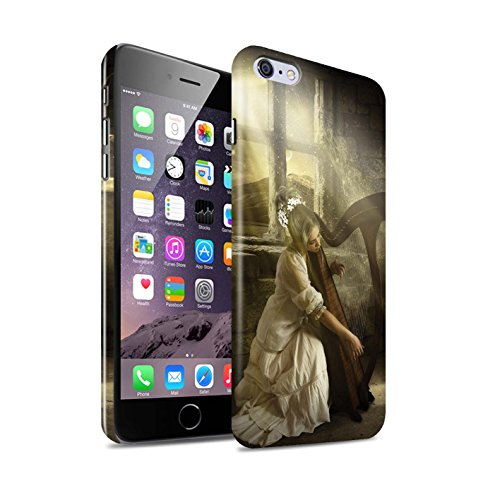 Officiel Elena Dudina Coque / Clipser Brillant Etui pour Apple iPhone 6+/Plus 5.5 / Mélodie du Silence Design / Réconfort Musique Collection Harpe/Harpiste
