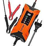 POTEK 2A Batterie Ladegerät 6V/12V, Batterieladegerät Erhaltungsladegerät 5 Schritt Vollautomatisches Kraftpaket Batterieladegerät für KFZ PKW Auto Motorrad