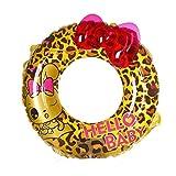 HYM Leopard Swim Ring Gonfiabile Gigante Nuoto Pneumatico Galleggiante Piscina Giocattolo per Adulti e Bambini Piscina Aria Materasso flottazione Pneumatico per Piscina Partito Spiaggia,XS