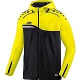 Jako Competition 2.0Chaqueta con capucha, todo el año, hombre, color negro/amarillo neón, tamaño extra-large