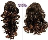 PRETTYSHOP 2 IN 1 Haarteil Pferdeschwanz Zopf Haarverlängerung Haarverdichtung ca