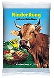 PALIGO Rinderdung NPK Dünger Kuh Mist Dung Natur Bio Obst Gemüse Rasen Beet Garten 12,5kg x 2 Sack 25kg / 1 Karton Galamio