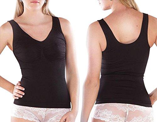 Damen Palleon Mieder-Top Bodyformer Bauchweg Figurformendes Top Shape Schwarz