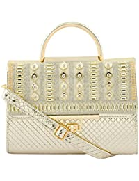 Bridle/Party Clutch With Sparkling Stones-Golden