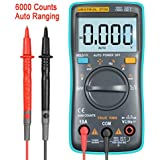 URXTRAL 6000 Counts Auto Ranging Digital Multimeter TRMS Multi Tester Messgeräte Multimeter mit Hintergrundbeleuchtung Messung Temperatur Cat 3 Messgerät AC / DC / OHM / Hz / Temp / Duty Cycle / Continuity Tester