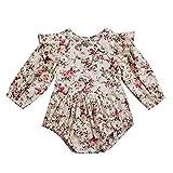 Wang-RX Blumen-Säuglingskleinkind-Baby-Spielanzug-Weinlese-langärmliges neugeborenes Mädchen-Spielanzug-Overall-Frühlings-Herbst-Baby-Kleidung