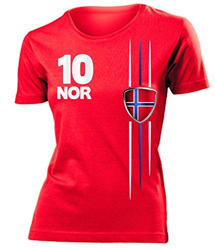 FUSSBALL WM 2014 - NORWEGEN FANSHIRT 3336(F-R) Gr. M (Norwegen Fußball Trikot)