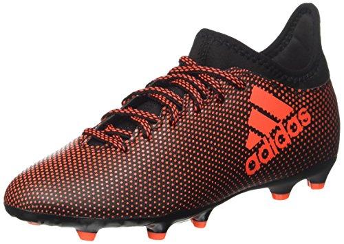 Adidas X 17.3 Fg J, Chaussures de Football Garçon, Multicolore (Core Black/Solar Red/Solar Orange), 36 2/3 EU