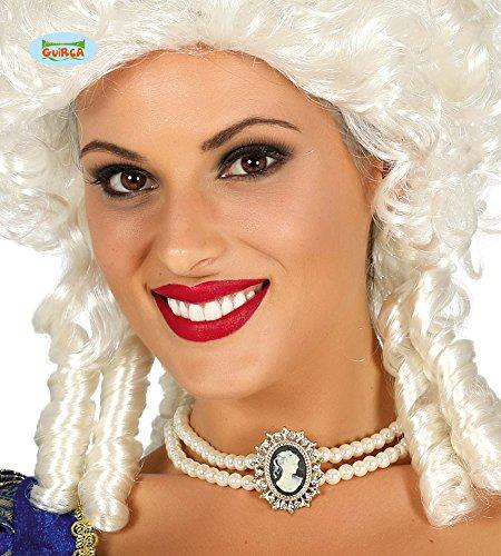 (Guirca Perlenkette Kette Anhänger Medaillon Collier Edel Halloween Karneval)